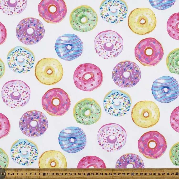Doe-Nuts Printed Montreaux Drill Fabric