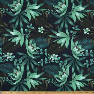 Printed Cotton Linen Jungle Greens 135 cm Fabric