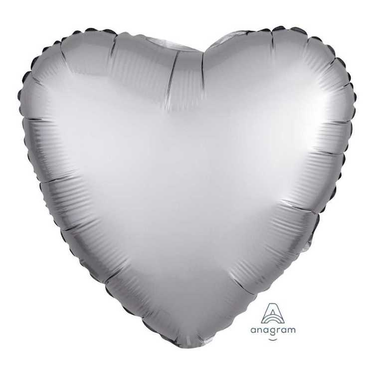 Anagram Satin Luxe Heart Foil Balloon