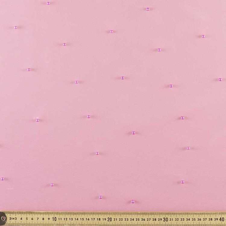 Pearl on Mesh Beaded Fabric