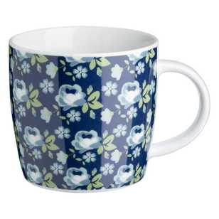 Floral Rose Porcelain Coupe Mug