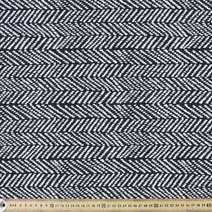 Herringbone Printed 112 cm Cloud 9 Canvas Fabric