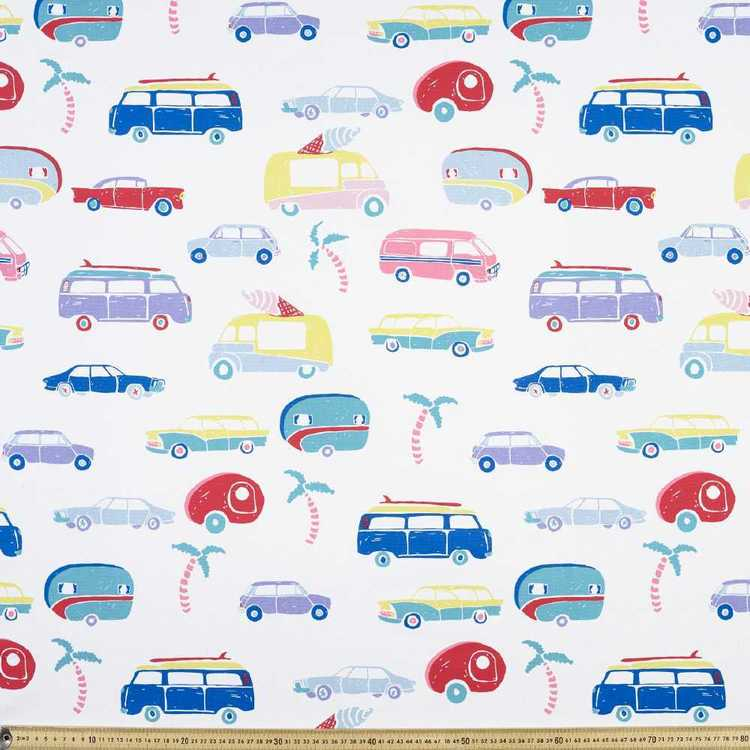 Ellie Whittaker Campervans Printed Fabric Multicoloured 150 cm