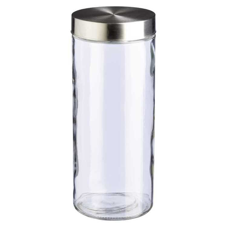 Culinary Co Glass Canister With Stainless Steel Lid