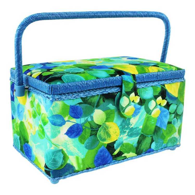 Semco Tossed Leaves Sewing Basket