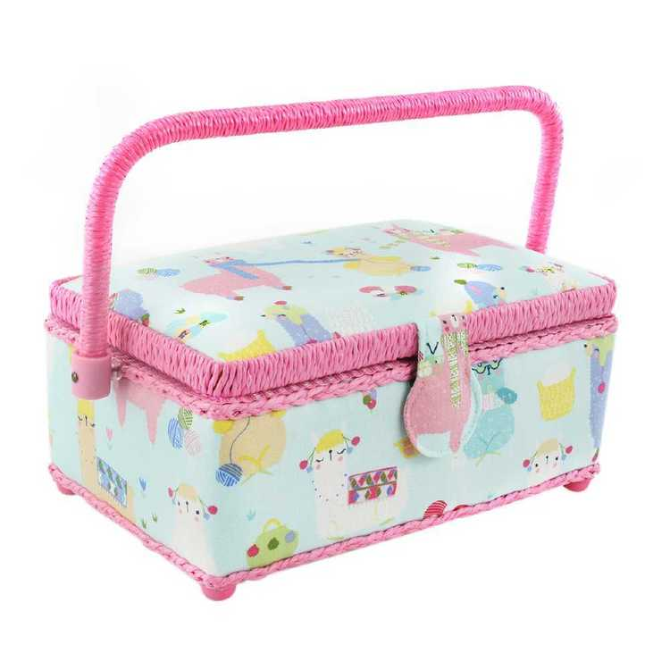 Semco Knitting Alpacas Sewing Basket