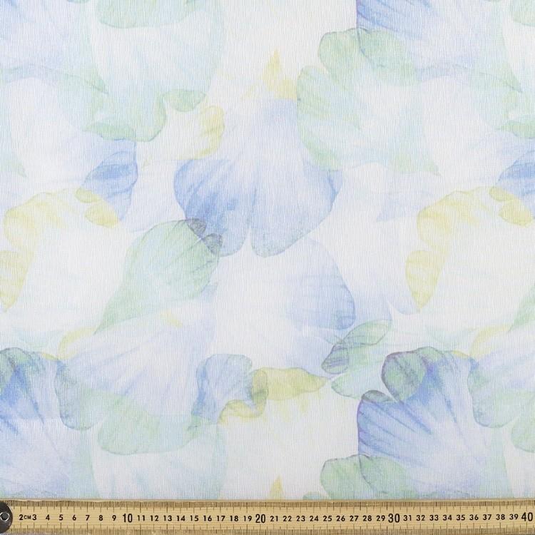 Printed Organza Petals 148 cm Fabric