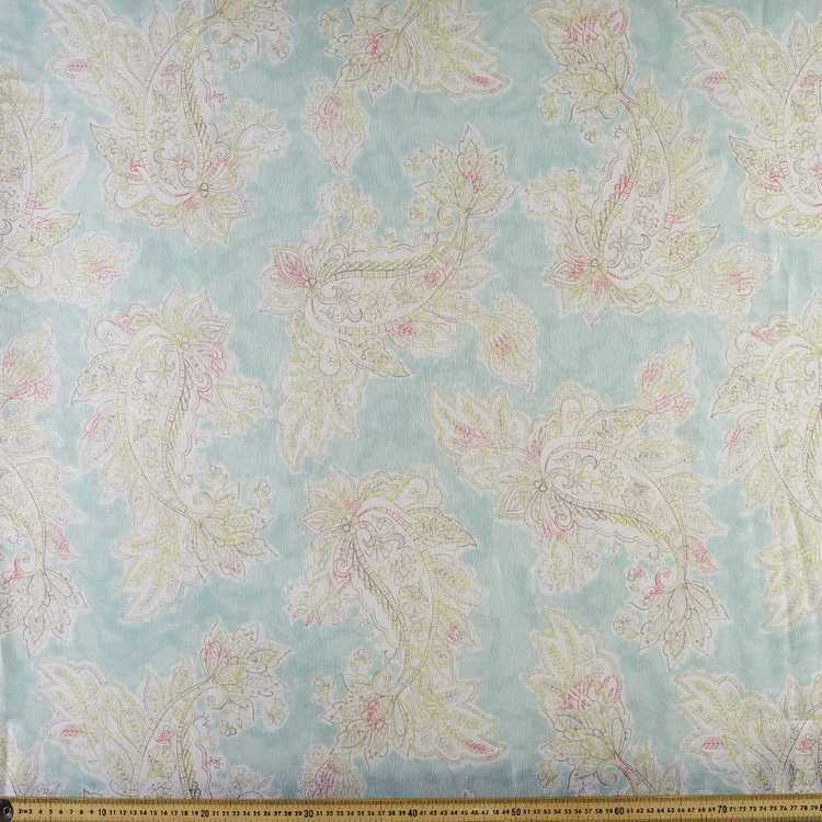 Printed Organza Paisley 148 cm Fabric