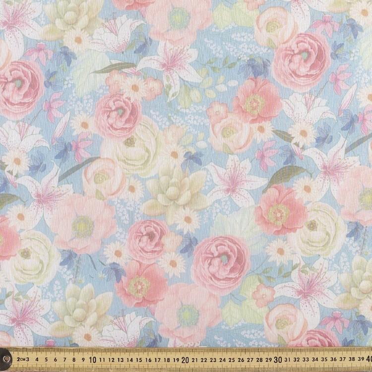 Printed Organza Florals 148 cm Fabric