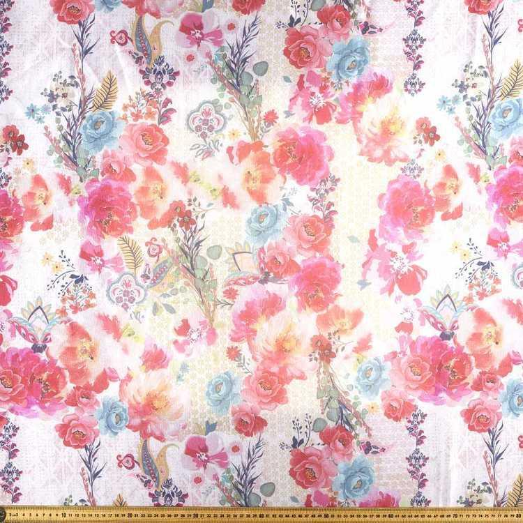 Printed Organza Posey 148 cm Fabric