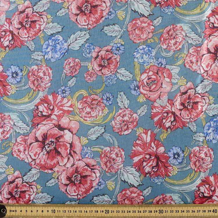 Printed Organza Gables 148 cm Fabric