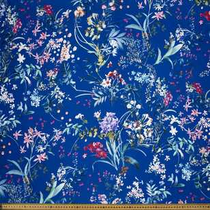 Floral Garden #3 Printed Crepe Fabric