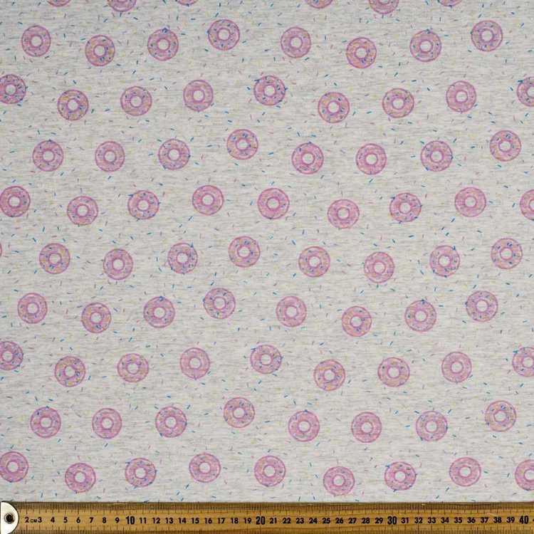 Printed Cotton Spandex Donuts 148 cm Fabric