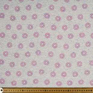 Printed Cotton Spandex Donuts 148 cm Fabric