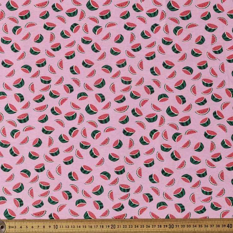 Printed Cotton Spandex Watermelon 148 cm Fabric