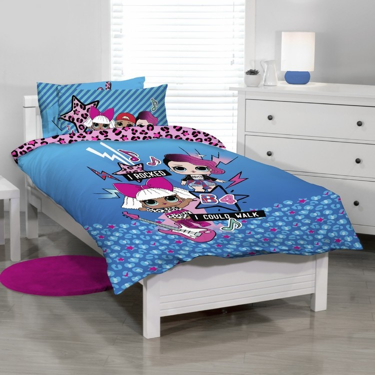 Lol Rock One Quilt Cover Set Blue Single