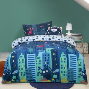 Kids House Space Attack Quilt Cover Set