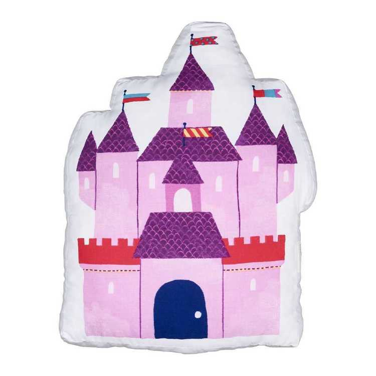 Kids House Fairy Castle Cushion Pink