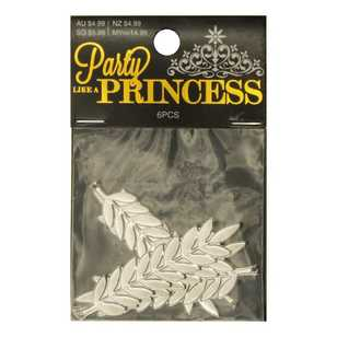 Ribtex Party Like A Princess 55 mm Metal Leaf Strand Pack