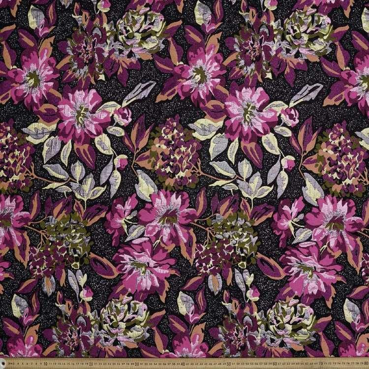 Floral Printed Reversible Brocade Fabric