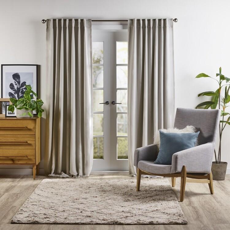 KOO Elite Linen Concealed Tab Top Curtains