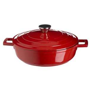 Saute Cast Aluminium Low Casserole With Lid