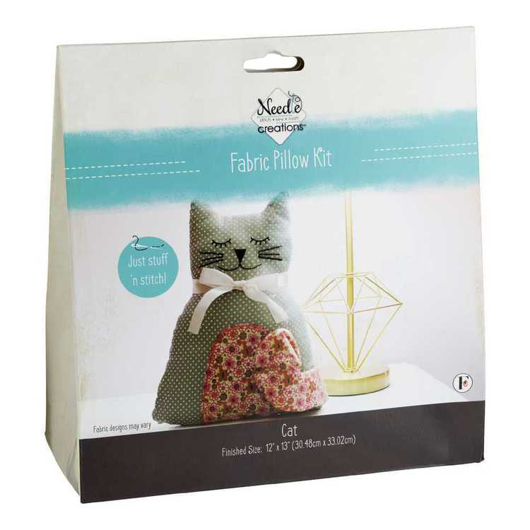 Needle Creations Cat Pillow Kit Multicoloured 30.5 x 33 x 10 cm
