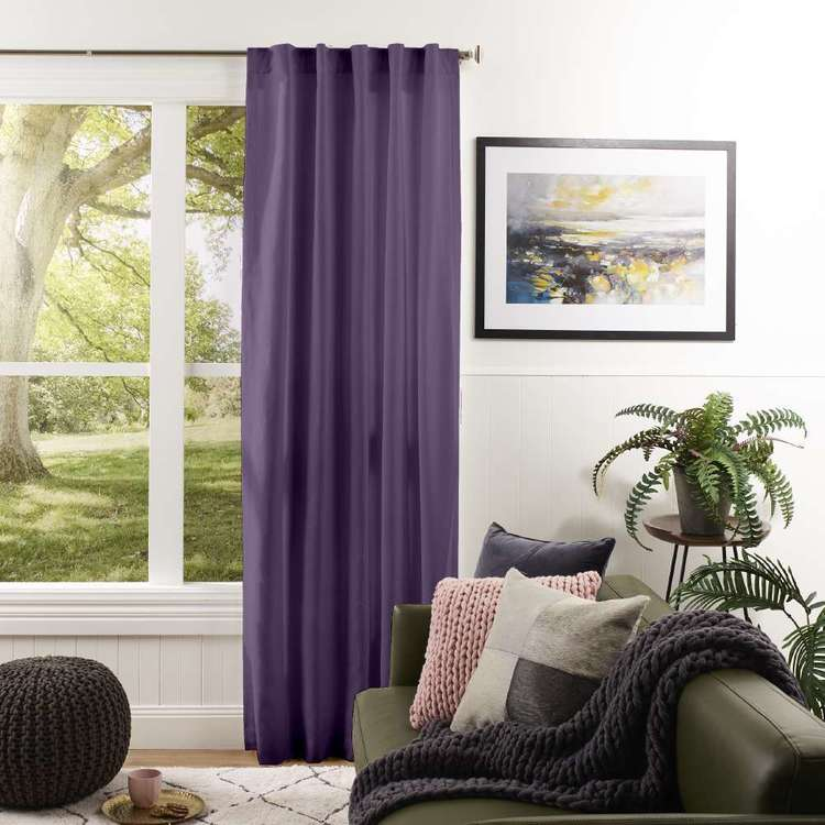 Gummerson Bourke Canvas Concealed Tab Curtain