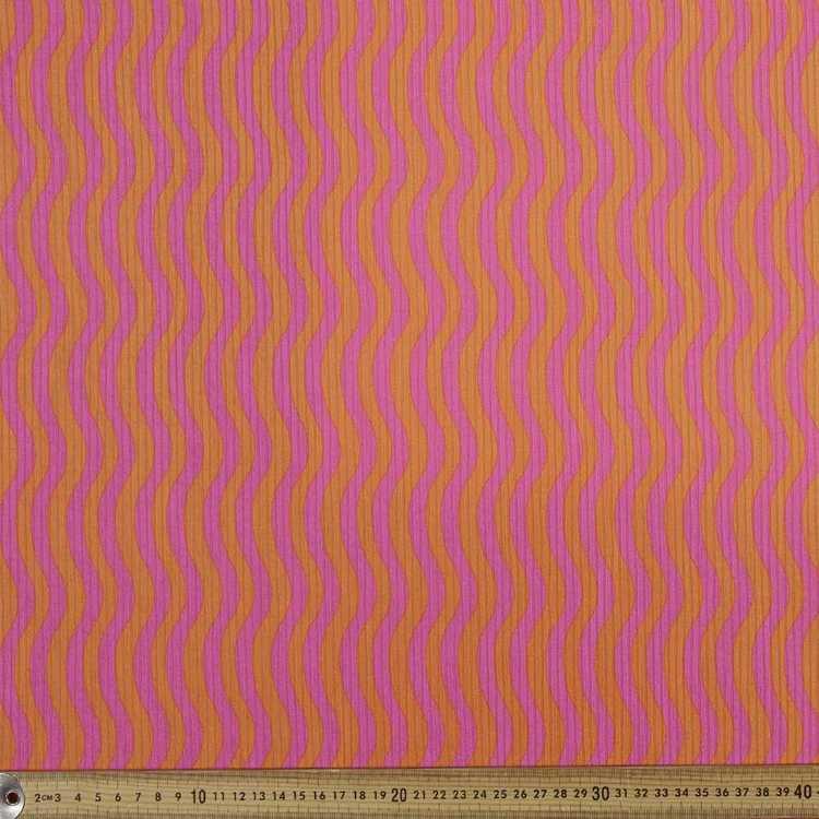 Waves Stripe 148 cm Rib Knit Fabric