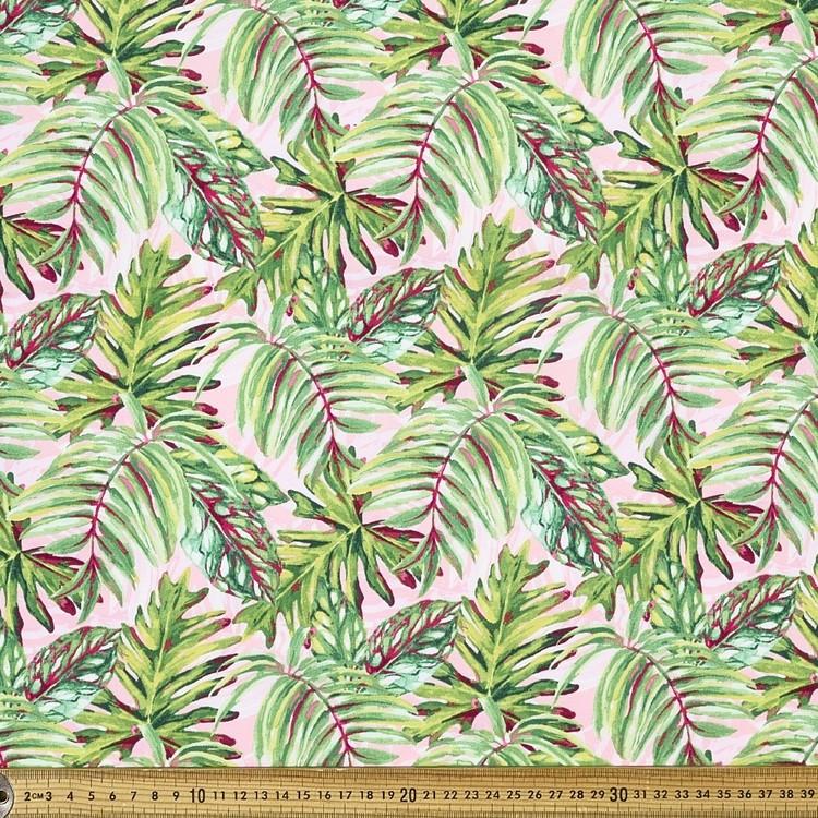 Palm Leaves Printed Poplin Fabric