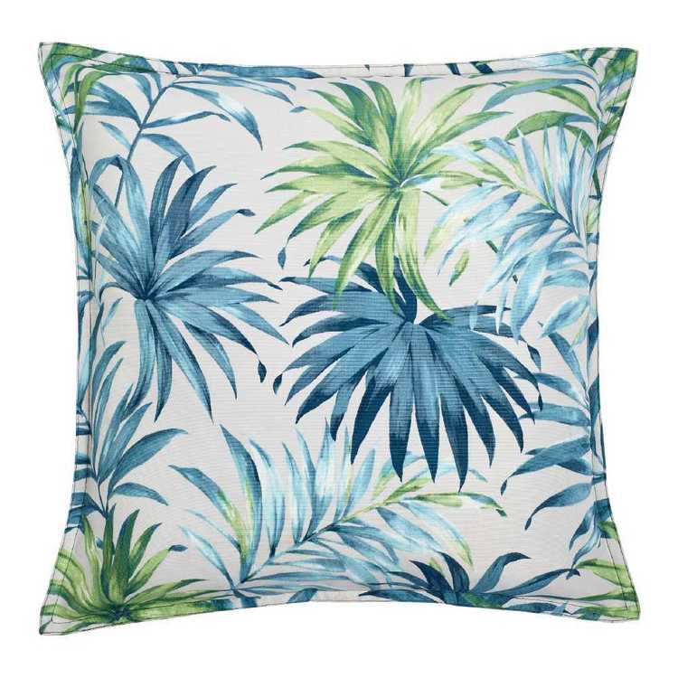 KOO Outdoor Tropical TW and Printed Cushion Teal 50 x 50 cm
