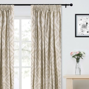 KOO Sarah Jacquard Pencil Pleat Curtain