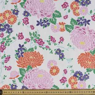 Sayuri Floral Weather Resistant Canvas Fabric