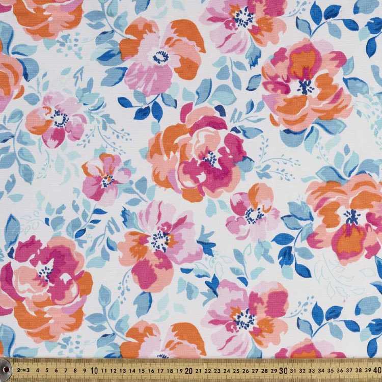 Weathercolour Floral Weather Resistant Canvas Fabric