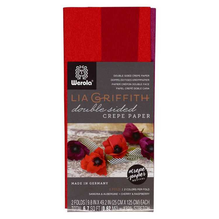 Lia Griffith Sangria Cherry Double Sided Crepe Paper