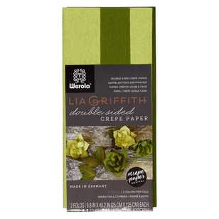 Lia Griffith Ferns & Moss Double Sided Crepe Paper