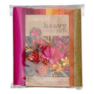 Lia Griffith Tropical Garden Heavy Crepe Paper 10 Pack
