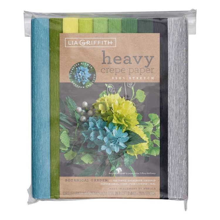 Lia Griffith Botanical Garden Heavy Crepe Paper Pack
