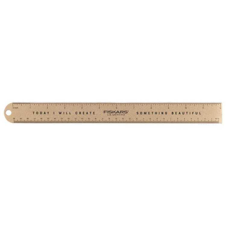 Fiskars Lia Griffith Metal Ruler