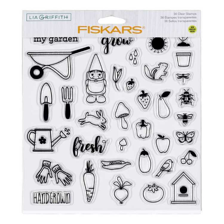 Fiskars Lia Griffith Hand Grown Stamps
