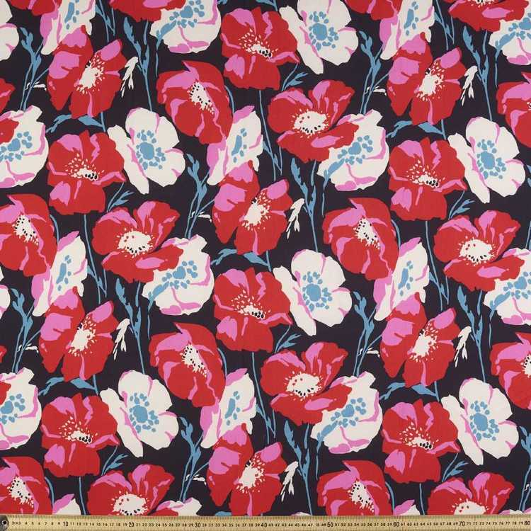 Poppy Printed 144 cm Crepe Fabric