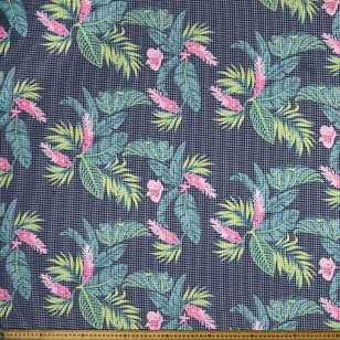 Tropical Printed 145 cm Textured Knit Fabric