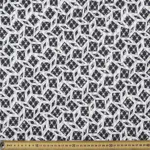 Abstract Printed 145 cm Textured Knit Fabric