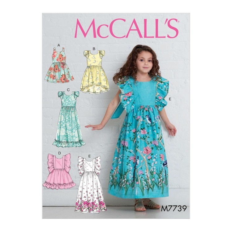 McCall's Pattern M7739 Children's & Girls' Dresses
