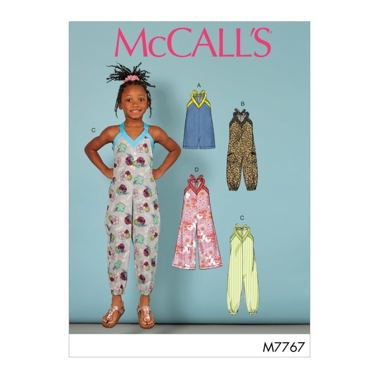McCall's Pattern M7767 Toddler's & Children's Romper And Jumpsuits