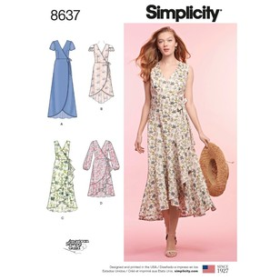 Simplicity Pattern 8637 Misses' Wrap Dress