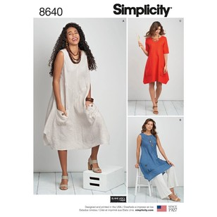 Simplicity Pattern 8640 Misses' & Women's Dress Or Tunic