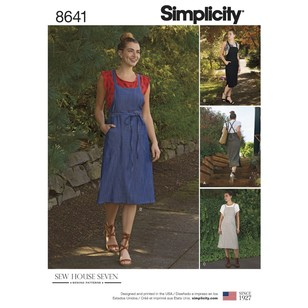 Simplicity Pattern 8641 Misses' Jumper Dress