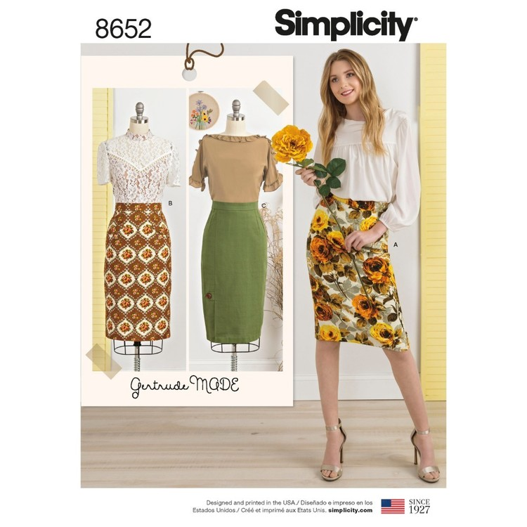 Simplicity Pattern 8652 Misses' Skirts