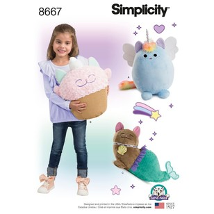 Simplicity Pattern 8667 Stuffed Kitties